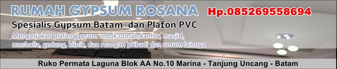 Rumah Gypsum Rosana - Spesialis Gypsum Batam dan Plafon PVC - Hp. 0852 6955 8694